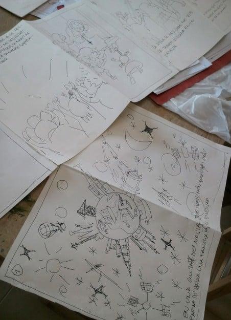 Ilustraciones a tinta alumno del taller de ilustración, Barcelona
