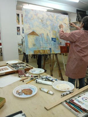 LANDSCAPE Painting using photographs and sketches at our Taller. Barcelona