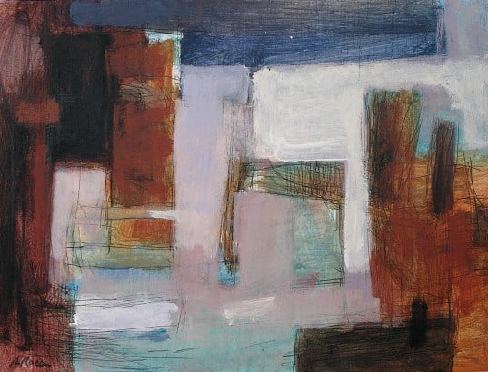 4. LANDSCAPE. Acrylic and ink on wood