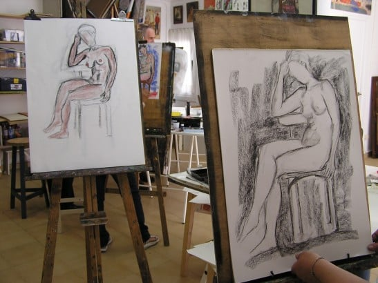 HUMAN FIGURE drawing from live model at Taller de 4 Pintors