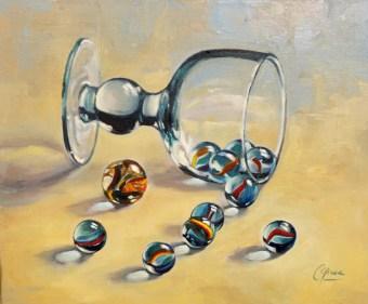 Cuadro al óleo de objetos. Taller de 4 Pintors