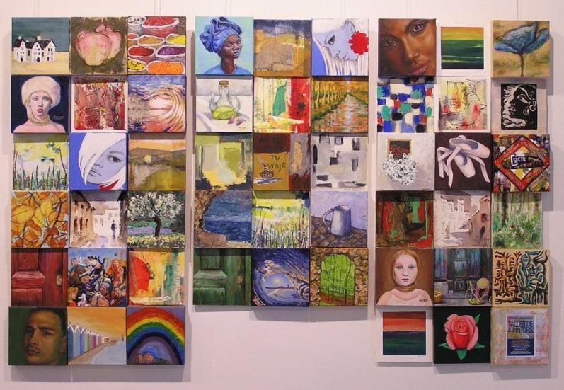 Exposición alumnos Taller de 4 Pintors. Cursos de Pintura y Dibujo en Barcelona