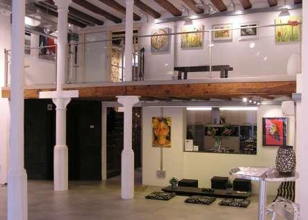 Vista exposición 4 Pintors, Galería Mezanina. Clases de Pintura y Dibujo en Barcelona