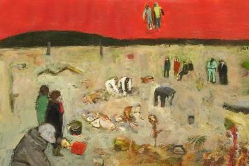 3. ARQUEÒLEGS. Apunt. 21x29,7 cm. Classes pintura dibuix Barcelona