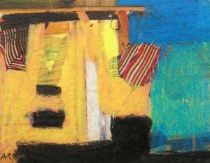 2. SUMMER. Sketch. 10x12 cm. Painting courses in Barcelona