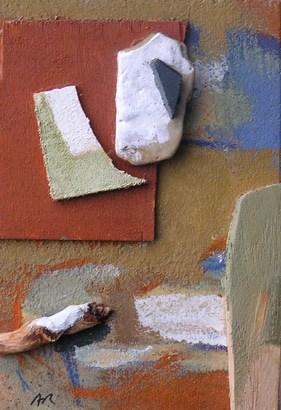 Acrílic sobre fusta. Pintura a escola de Barcelona