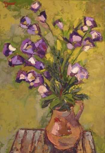 Gerro de flors. Oli sobre tela