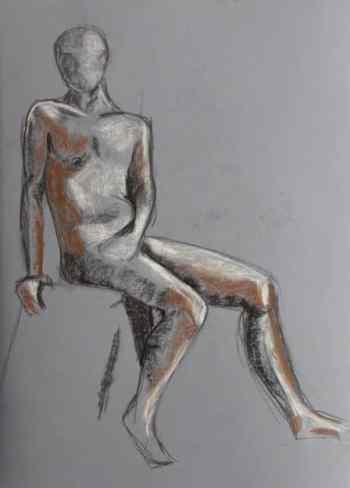 Figura humana. Dibuix de model. Barcelona