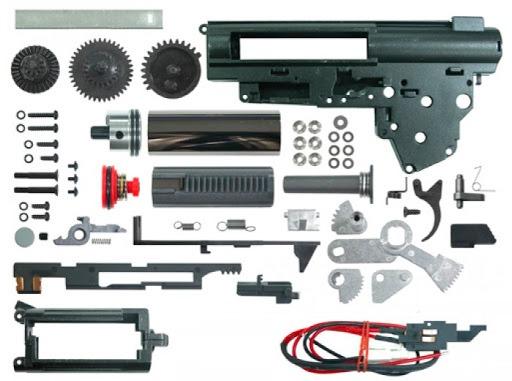 full-gearbox-set Reparación de réplicas de Airsoft