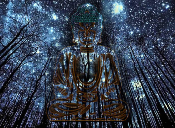 Budha y estrellas