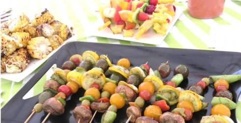 brochetas de verduras