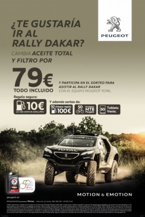 oferta cambio de acite y filtro rally Dakar