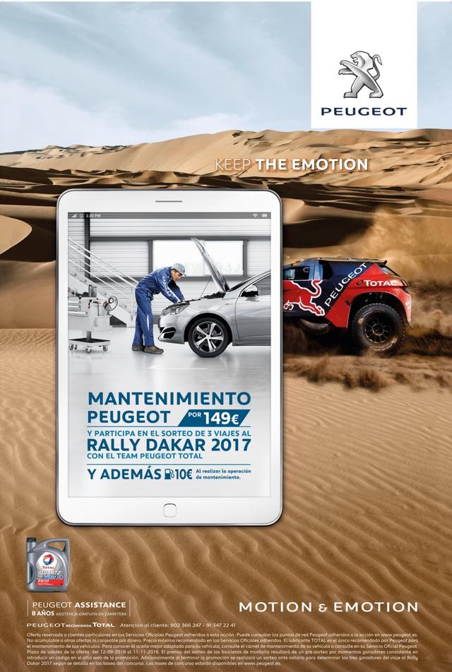 Dakar 2017 con mantenimiento Peugeot