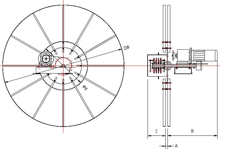 medidas generales enrollador monoespiral