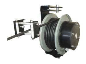 Enrollador de cable a resortes - muelles con soporte giratorio
