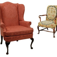 Queen Anne Wing Chair Hanging Living Room Chippendale Taller Y Medio