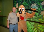 "My dad with his very special ""friend"" Pluto (wink, wink)."