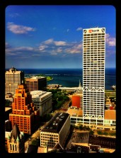 I know people who work in high places...bird's eye view of Milwaukee.