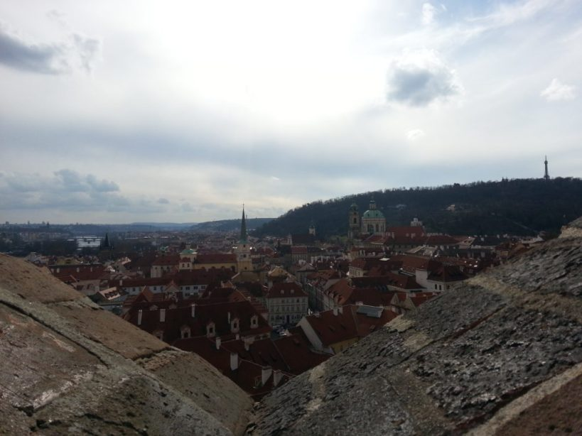 View from Prague Castle stairs