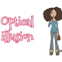 Curly Kinky Hair Business : Optical illusion