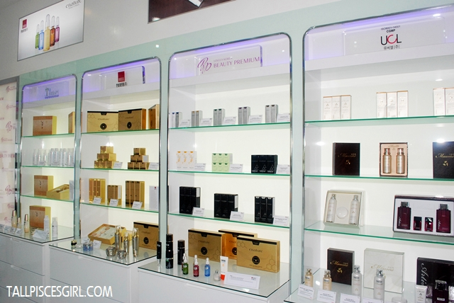 Products on display