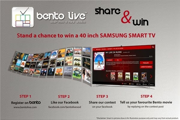 Bento Live Share and Win Contest