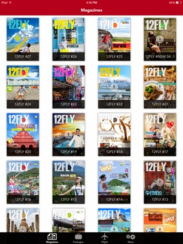 12FLY Travel App Magazine Rack