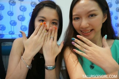 Posing with Janice who won the creative nail art contest!