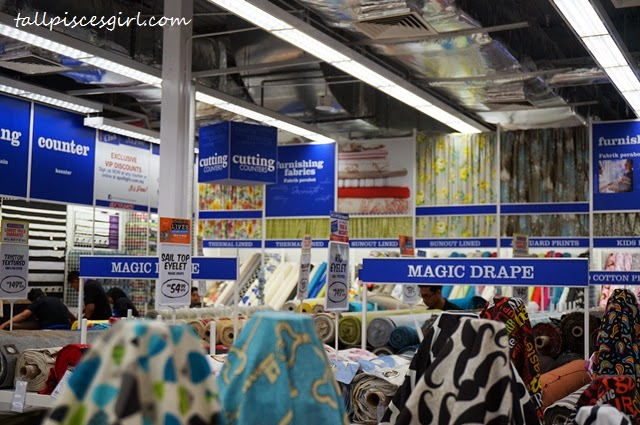 Fabric section with cutting counter for convenience