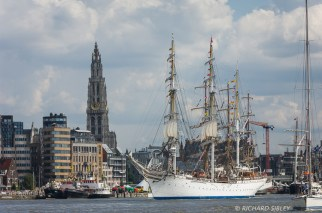 Parade of Sail. Antwerp Tall Ships Race 2010