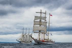 Polish Barquentine 'Iskra' and Polish Schooner 'Kapitan Borchardt'