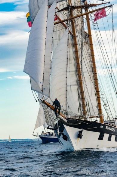 Lithuanian gaff schooner, Brabander and German schooner, Johann Smidt