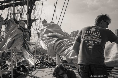 Preparing for the Parade of Sail