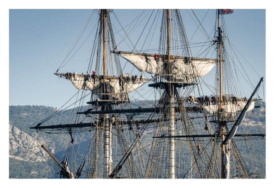 Furling topsails, l'Hermione, Toulon