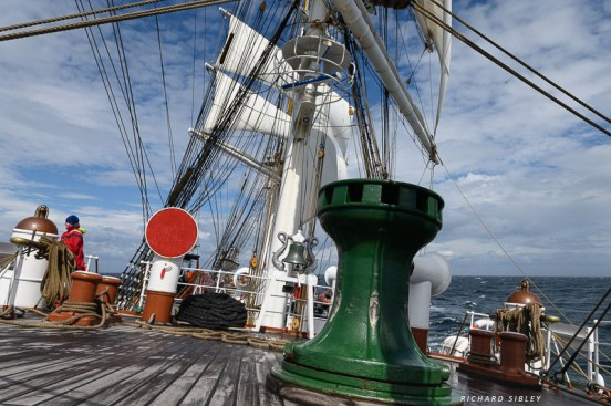 On the foredeck