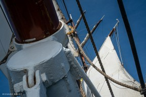 Looking up from below the bowsprit