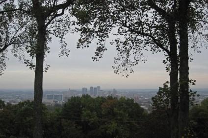 Cityscape of Birmingham from Vulcan Park