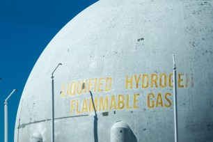 Liquid hydrogen tank, Kennedy Space Centre