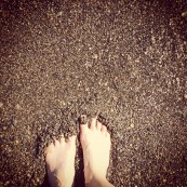 Toes in Lake Taupo