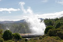 While in the model village we looked across to see Pohutu Geyser doing its thing