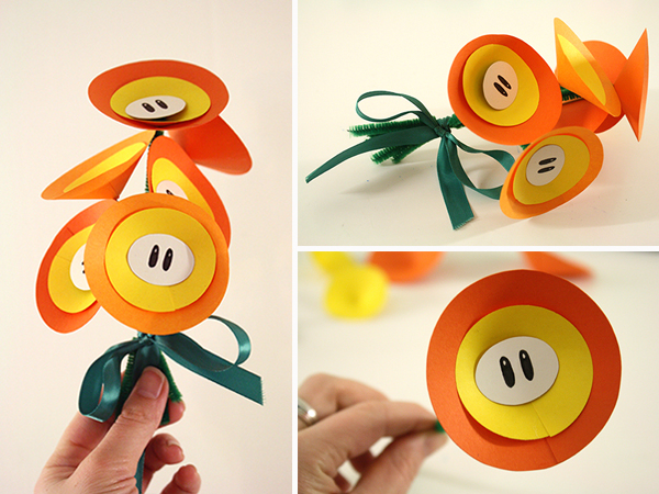 Paper Fire Flower Bouquet Tally S Treasury