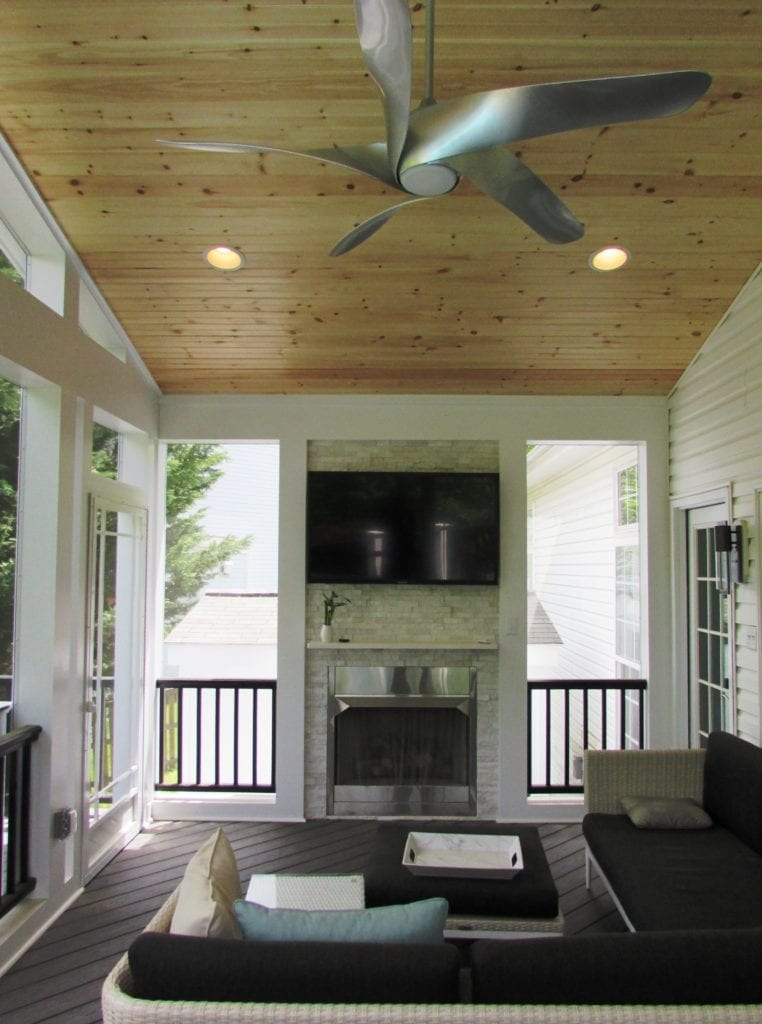 Screened porch and deck addition in Spring Ridge neighborhood of Frederick  Talon Construction