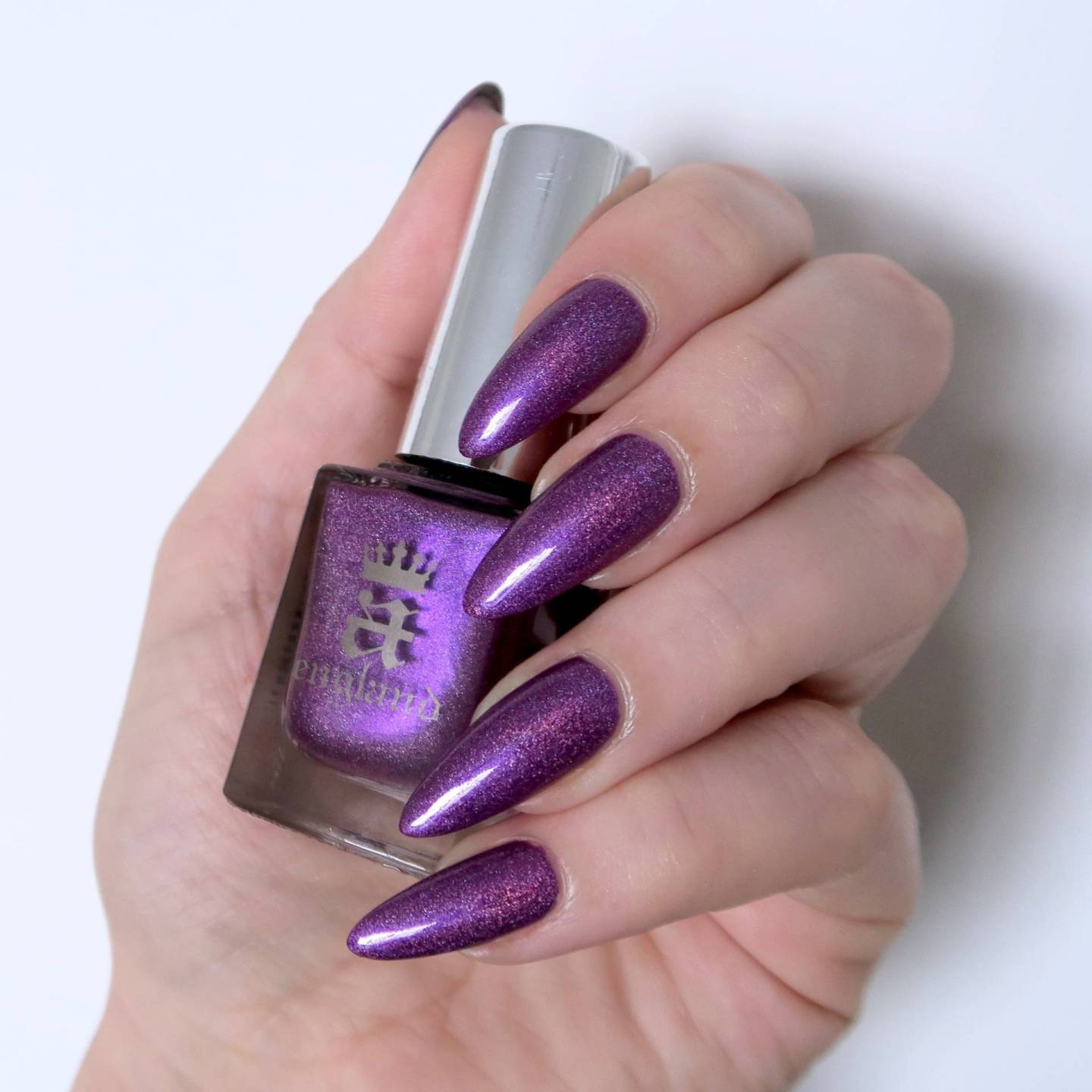 a-england 'Crown Of Thistles'. This purple holo polish feels so wintery, I love it!
