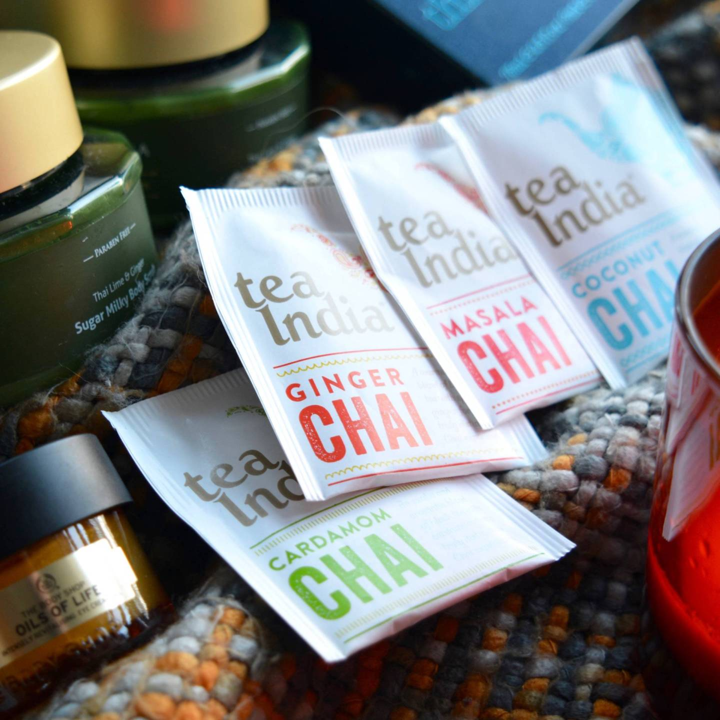 Winter pamper - A lovely, warming cup of Tea India flavoured chai tea is the perfect way to make you feel all warm and snuggly!