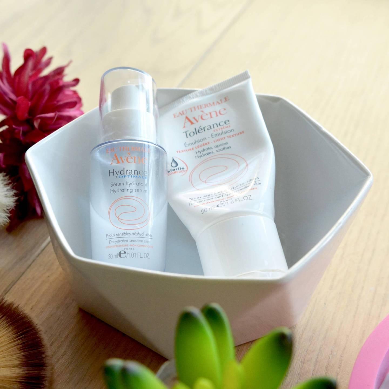 Avene Tolerance Extreme Emulsion and Avene Hydrance Serum (two of my 5 Best Budget Moisturisers for Sensitive Skin)