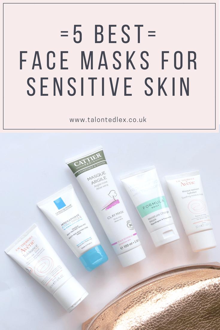 5 best face masks for sensitive skin (affordable skincare for rosacea)