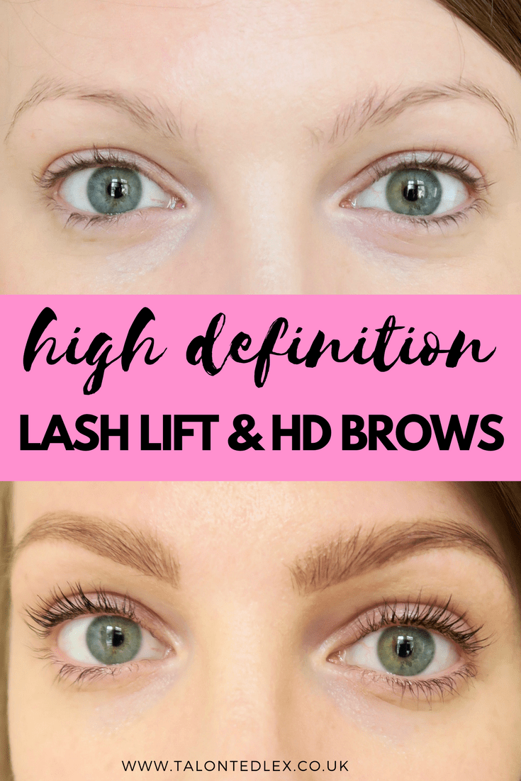 The results of a lash lift and HD brows on my blonde hair - what a transformation!