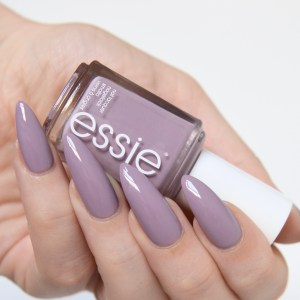 Essie Resort 2017 Ciao Effect swatches: grey- lavender polish