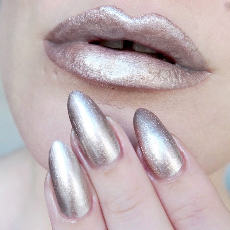 Talonted Lips And Tips challenge: rose gold lips and nails