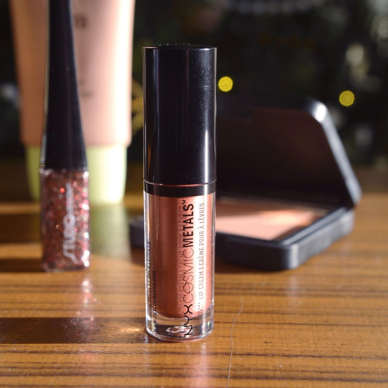 Glowy Make Up Edit - NYX Cosmic Metals lipstick